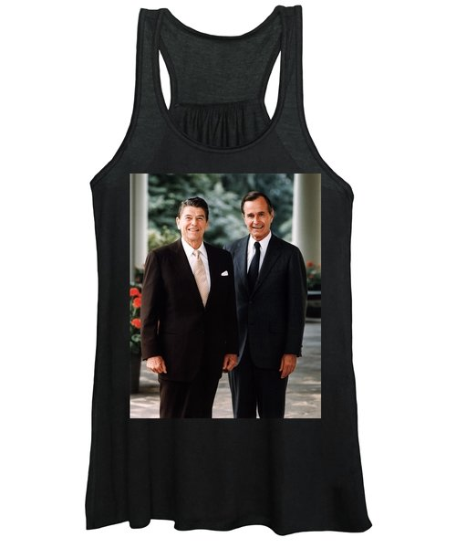 President Reagan And George H.w. Bush - Official Portrait  Women's Tank Top
