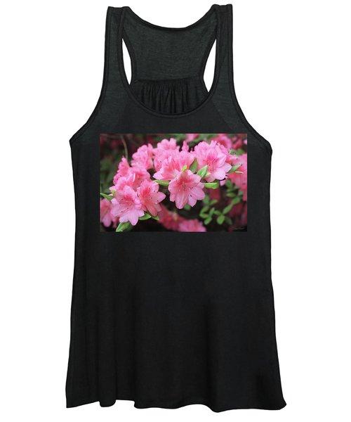 Pretty Pink Azalea Blossoms Women's Tank Top