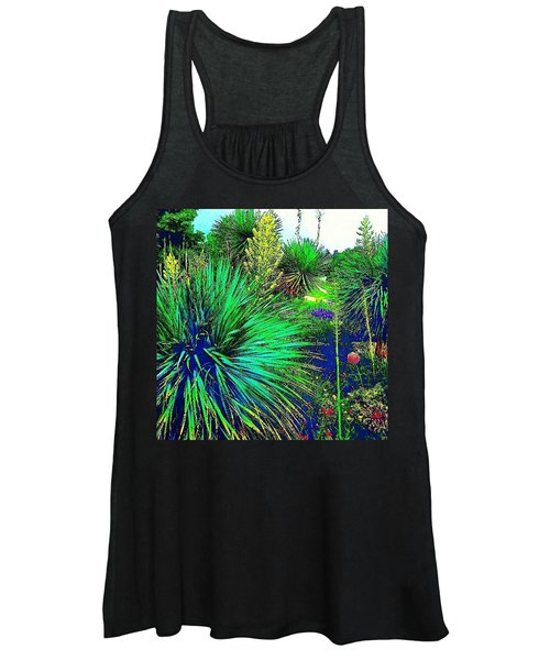 Psychedelic Yuccas. #plant #yucca Women's Tank Top