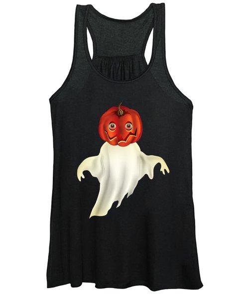 Pumpkin Headed Ghost Graphic Women's Tank Top
