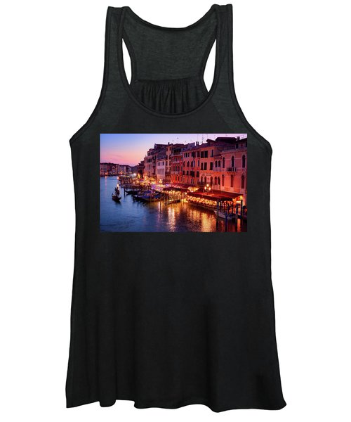 Cityscape From The Rialto In Venice, Italy Women's Tank Top