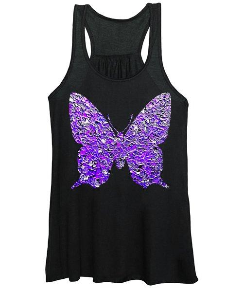 Purple Butterfly  Women's Tank Top