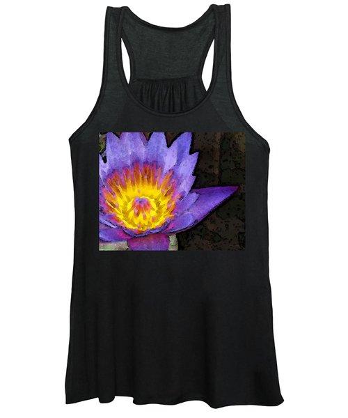 Purple Lotus Flower - Zen Art Painting Women's Tank Top