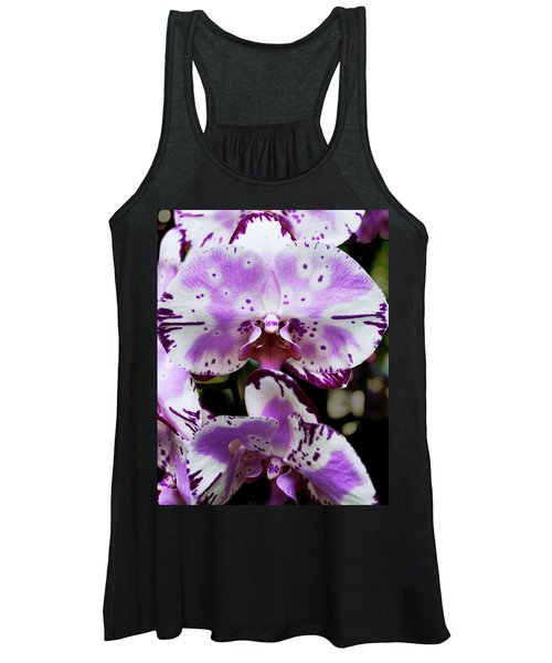 Purple And White Orchid Women's Tank Top