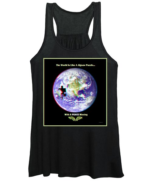 Puzzling - 3d Stereo Anaglyph Women's Tank Top