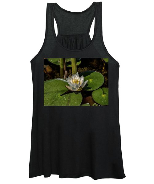 Radiant White Pond Lily  Women's Tank Top