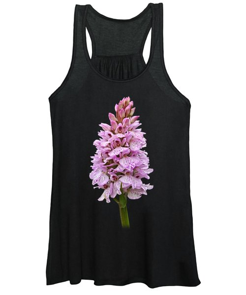 Radiant Wild Pink Spotted Orchid Women's Tank Top