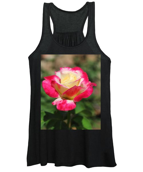 Red And Yellow Rose Women's Tank Top