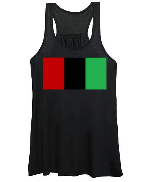 Red Black And Green Women's Tank Top