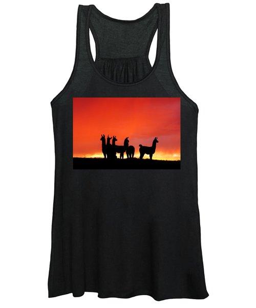 Red Llama Sunset 1 Women's Tank Top