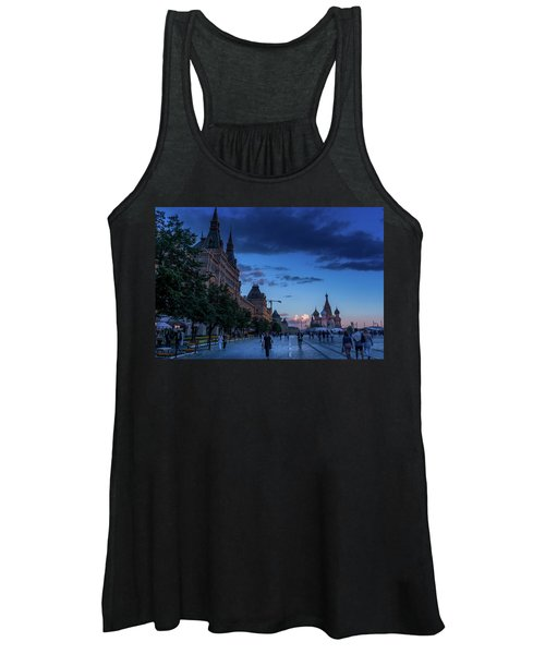 Red Square At Dusk Women's Tank Top