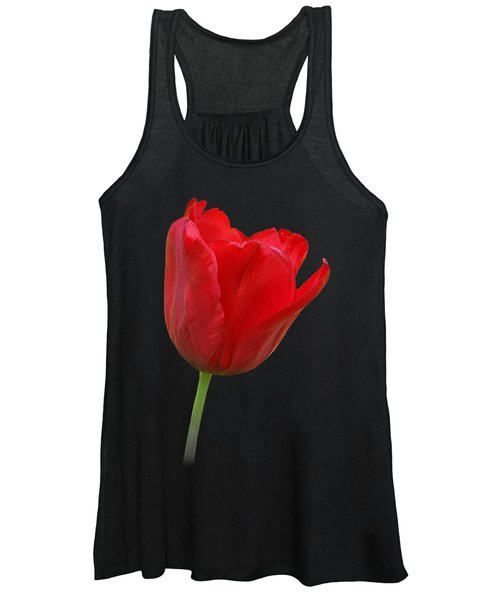Red Tulip Open Women's Tank Top