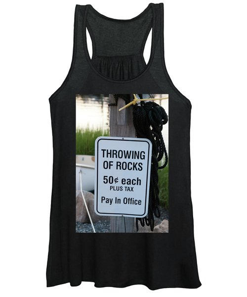 Rock Throwing Charge Women's Tank Top