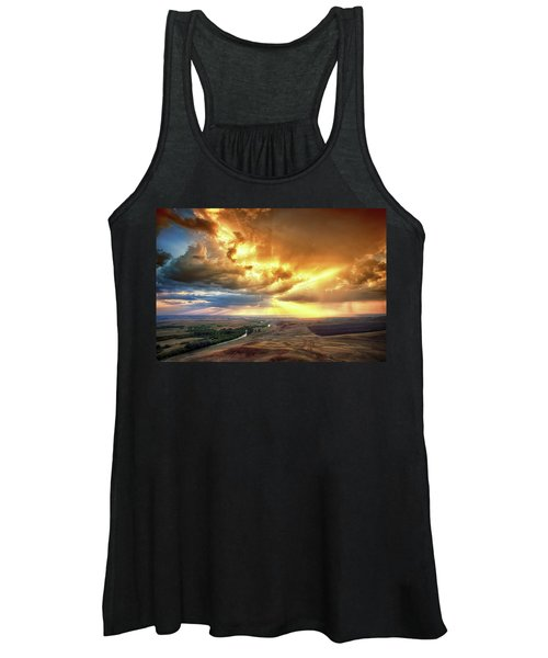 Rolling Rain Of Summer Sunset Women's Tank Top