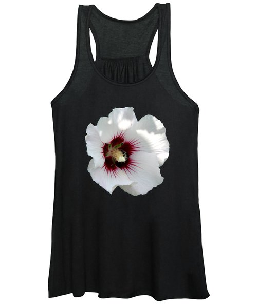 Rose Of Sharon Flower And Bumble Bee Women's Tank Top