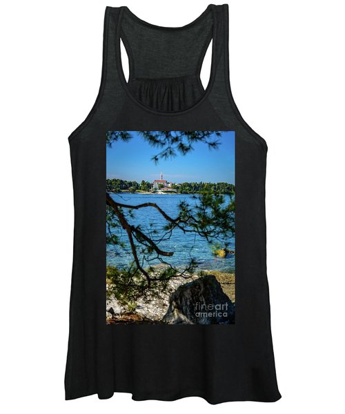 Rovinj Seaside Through The Adriatic Trees, Istria, Croatia Women's Tank Top