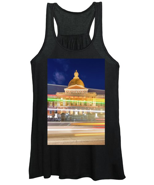 Rush Hour In Front Of The Massachusetts Statehouse Women's Tank Top