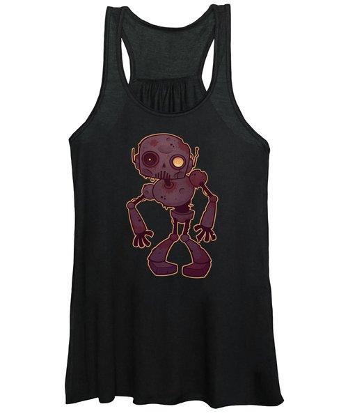 Rusty Zombie Robot Women's Tank Top