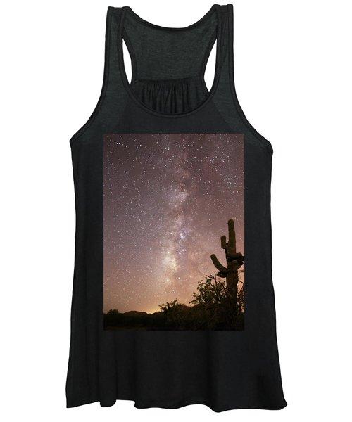 Saguaro Cactus And Milky Way Women's Tank Top