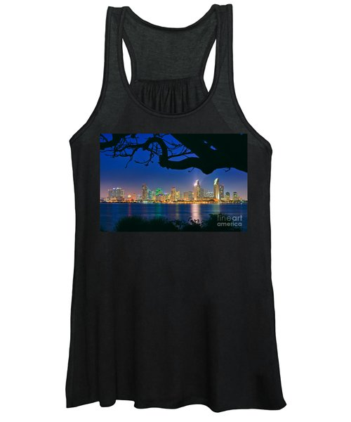 San Diego Skyline From Bay View Park In Coronado Women's Tank Top