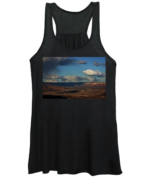 San Francisco Peaks With Snow And Clouds Women's Tank Top