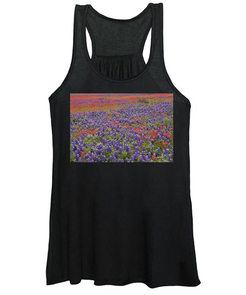 Sand Bluebonnet And Paintbrush Women's Tank Top