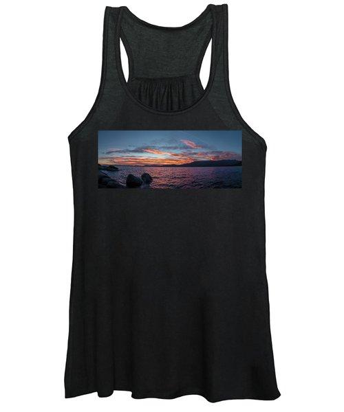 Sand Harbor Sunset Pano2 Women's Tank Top