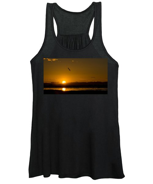 Sandhill Crane Sunrise Women's Tank Top