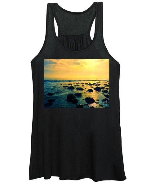 Santa Barbara California Ocean Sunset Women's Tank Top