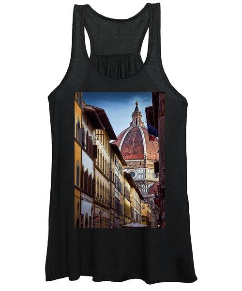 Santa Maria Del Fiore From Via Dei Servi Street In Florence, Italy Women's Tank Top
