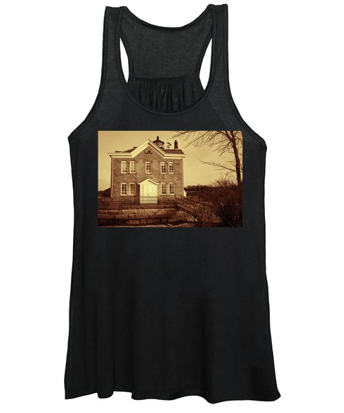 Saugerties Lighthouse Sepia Women's Tank Top