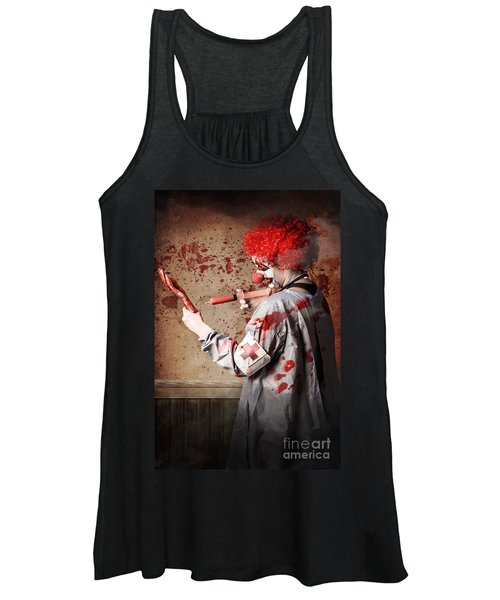 Scary Medical Clown Injecting Horror Into Limb Women's Tank Top