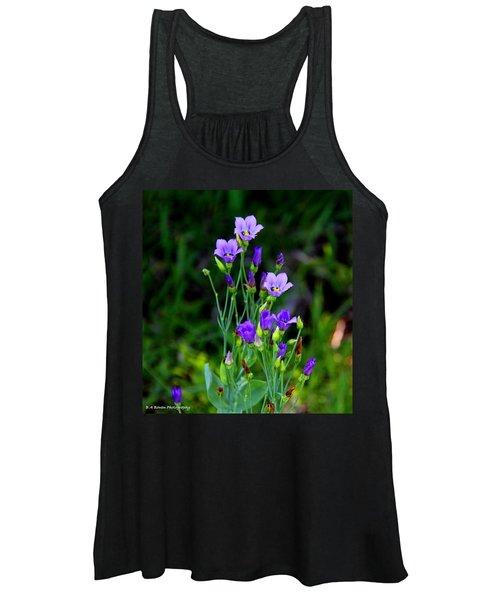 Seaside Gentian Wildflower  Women's Tank Top