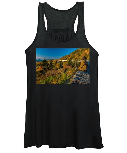 Seize The Day At Linn Cove Viaduct Autumn Women's Tank Top