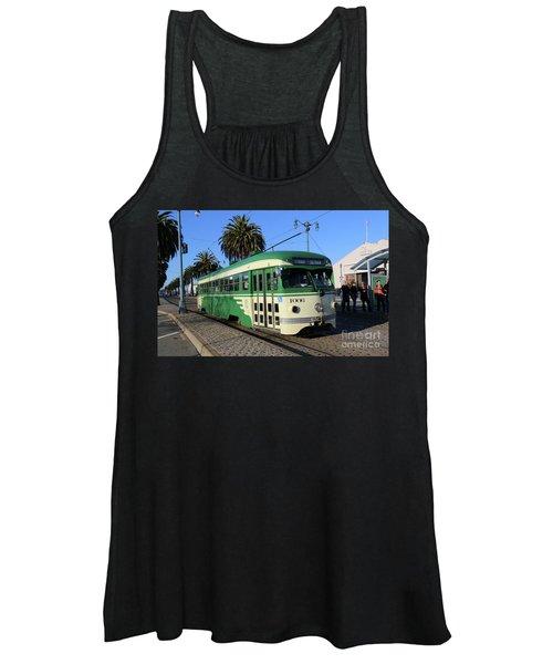 Sf Muni Railway Trolley Number 1006 Women's Tank Top