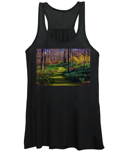 Shaded Spring Stroll Women's Tank Top