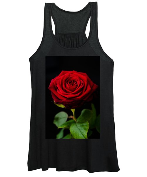 Single Rose Women's Tank Top