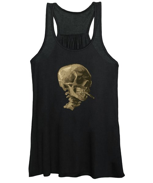 Skull Of A Skeleton With Burning Cigarette - Vincent Van Gogh Women's Tank Top