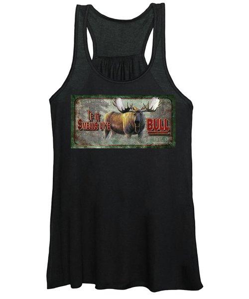 Smells Like Bull Sign Women's Tank Top