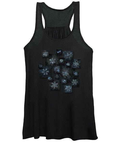 Snowflake Collage - Dark Crystals 2012-2014 Women's Tank Top