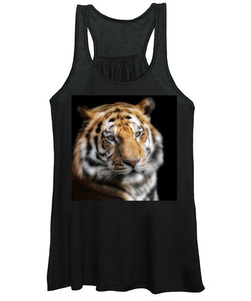 Soft Tiger Portrait Women's Tank Top