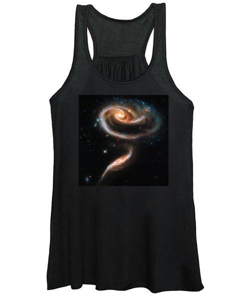 Space Image Galaxy Rose Women's Tank Top