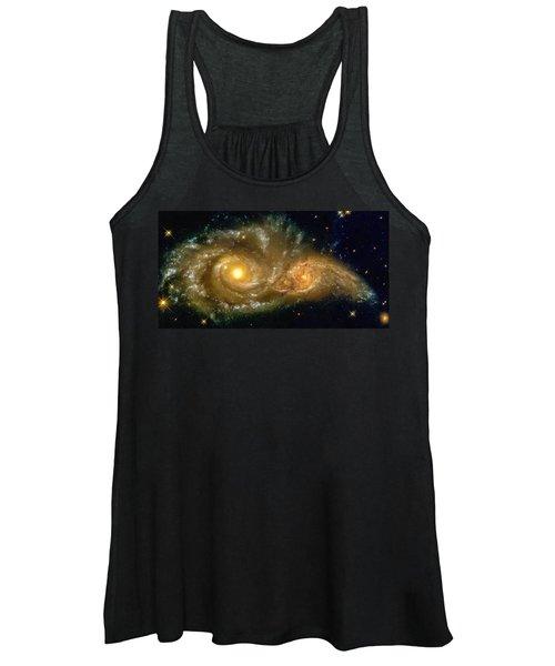 Space Image Spiral Galaxy Encounter Women's Tank Top