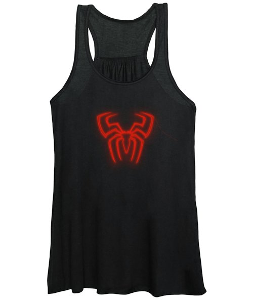 Spiderman Neon Style In Red Light Women's Tank Top