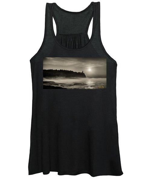 Split Rock Lighthouse Emerging Fog Women's Tank Top