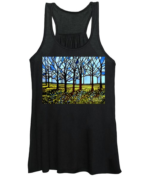 Stained Glass Trees Women's Tank Top