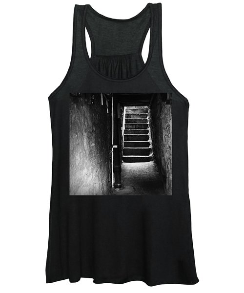 Stairs - Black And White Women's Tank Top