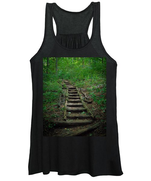 Stairway At Unicoi Gap On The At Women's Tank Top