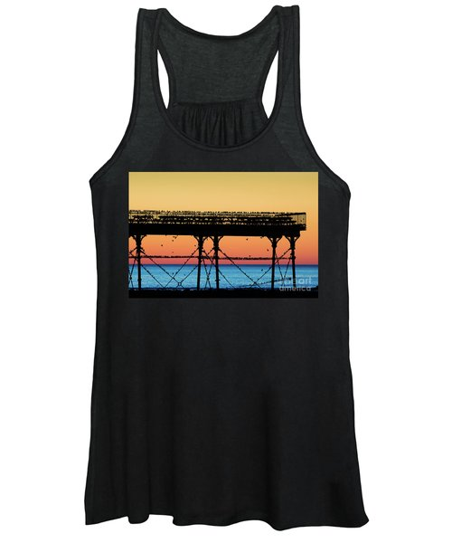 Starlings At Sunset In Aberystwyth Women's Tank Top