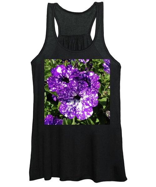 Starry Petunias... Women's Tank Top